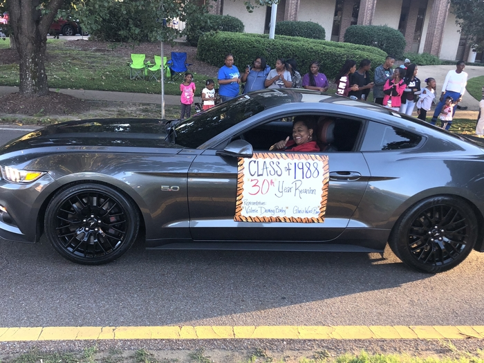 BSMS Faculty, Mrs. Bailey represents Aberdeen High School Class of 1988 in the Homecoming Parade!!