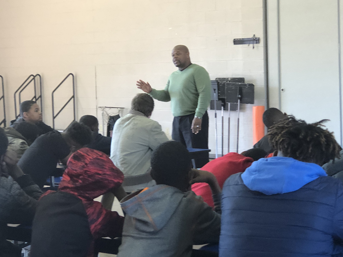 Pastor Mitchell speaks to our 7th & 8th grade boys!