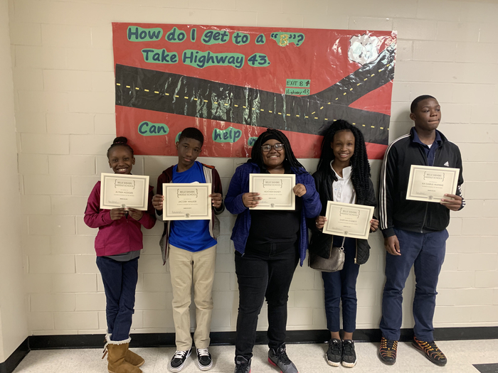 BSMS March Students of the Month.